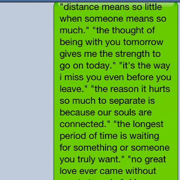 long distance relationship messages for boyfriend from the heart