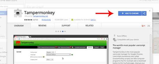 Tampermonkey untuk mengubah tampilan facebook
