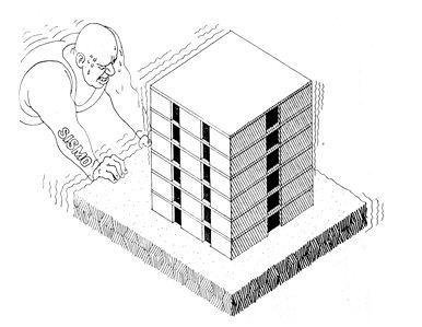 La Estructura Deledificio De Albañilería El Espesor Del