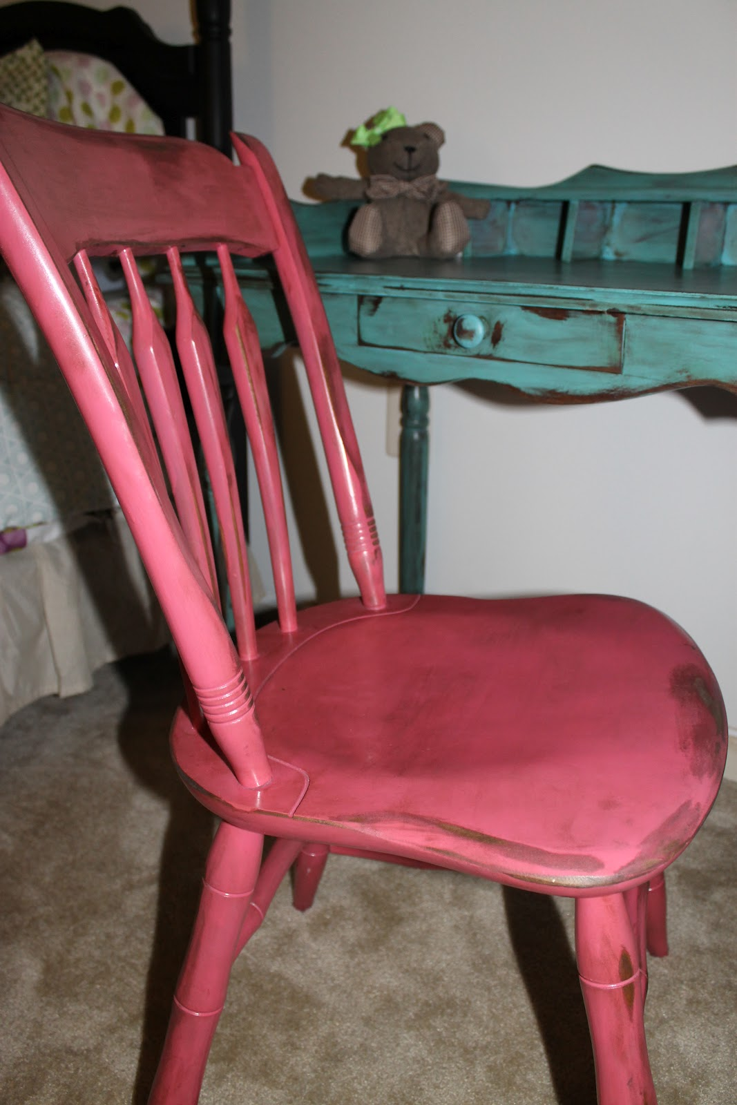 hot pink office chair swivel glides for wood floors and paint go together teal
