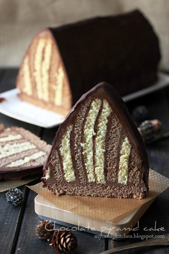 chocolate pyramid pastry