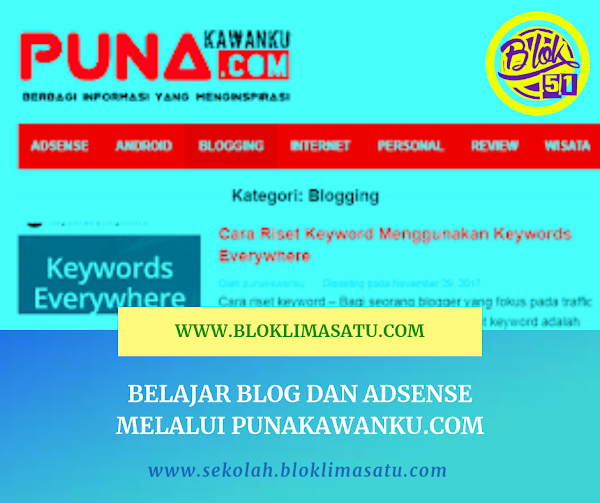 Belajar Blog dan Adsense Melalui Situs PUNAKAWANKU