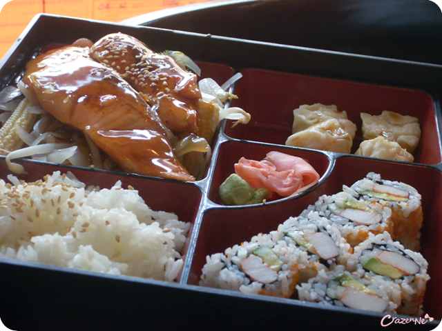 sushi bento box japanese food