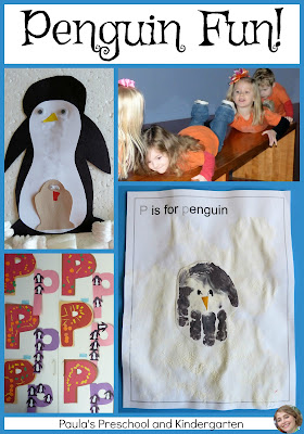 Penguin Fun (math, science, reading and craft activities) from Paula's Preschool and Kindergarten