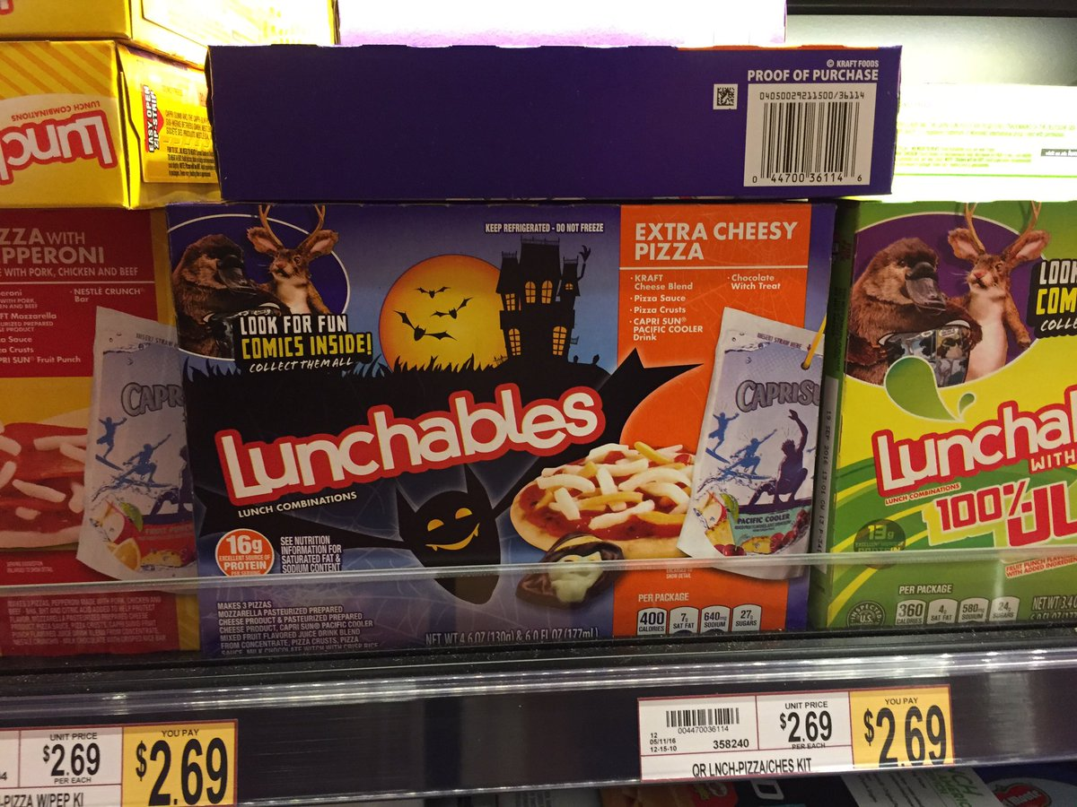 Halloween Lunchables