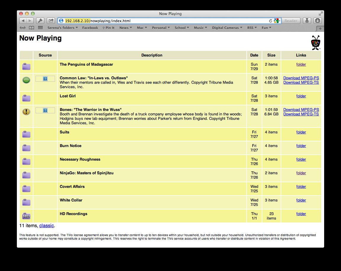 REL] TiVoToGo - Plugins - Plex Forum