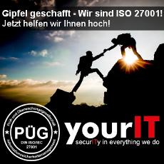 yourIT hat den Gipfel ISO 27001 bereits genommen. Nun wollen sie anderen dort hinaufhelfen.