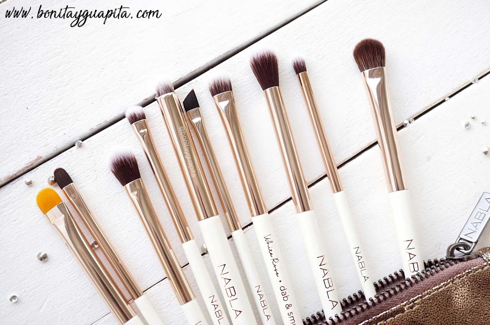 Nabla White Rose Eye brush Set pinceles ojos