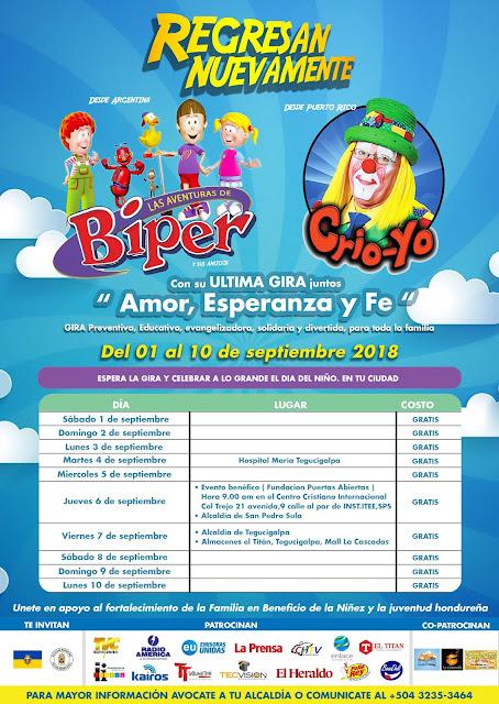 Publicidad Gira de Biper de Argentina y CrioYo de Pto.Rico en Honduras