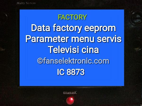 Data Parameter Factory Eeprom Menu Servis TV Cina IC 8873