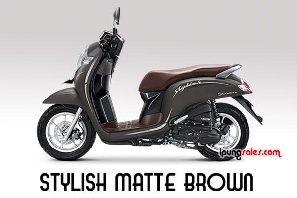Honda-Scoopy-2019-stylish-matte-brown