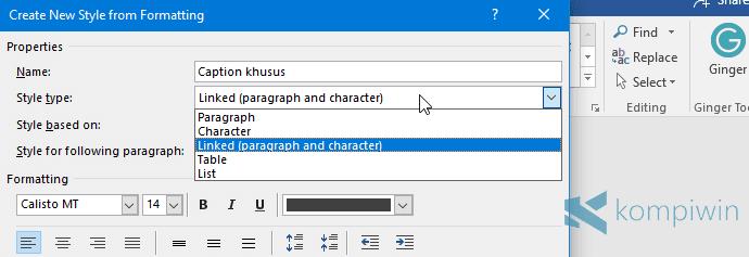 buat tampilan microsoft word sendiri