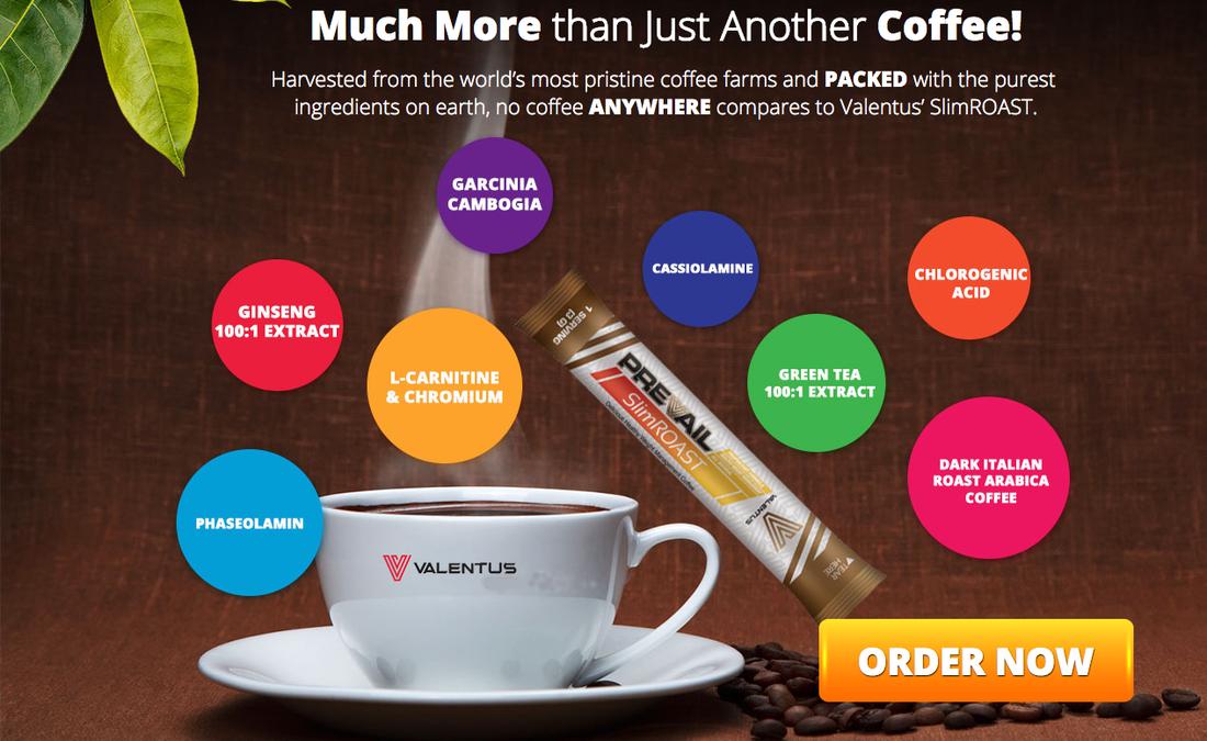 Valentus Slim Roast Coffee With Ingredients Garcinia Cambogia For