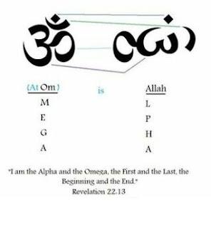 Ketika Tulisan Om Diputar 90 Derajat Sama Dengan Lafadz Allah