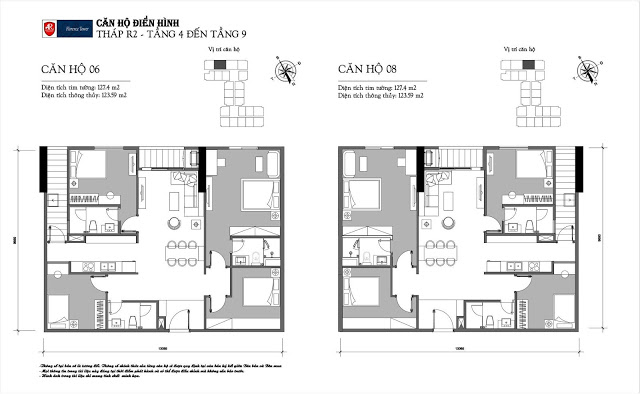 Thiết kế căn hộ 06-08 tòa R2