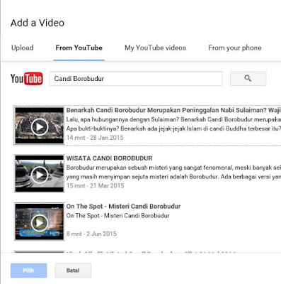 Cara memasukkan video ke blog