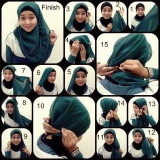 Tutorial Hijab Segi 4 Modern Terbaru 2015