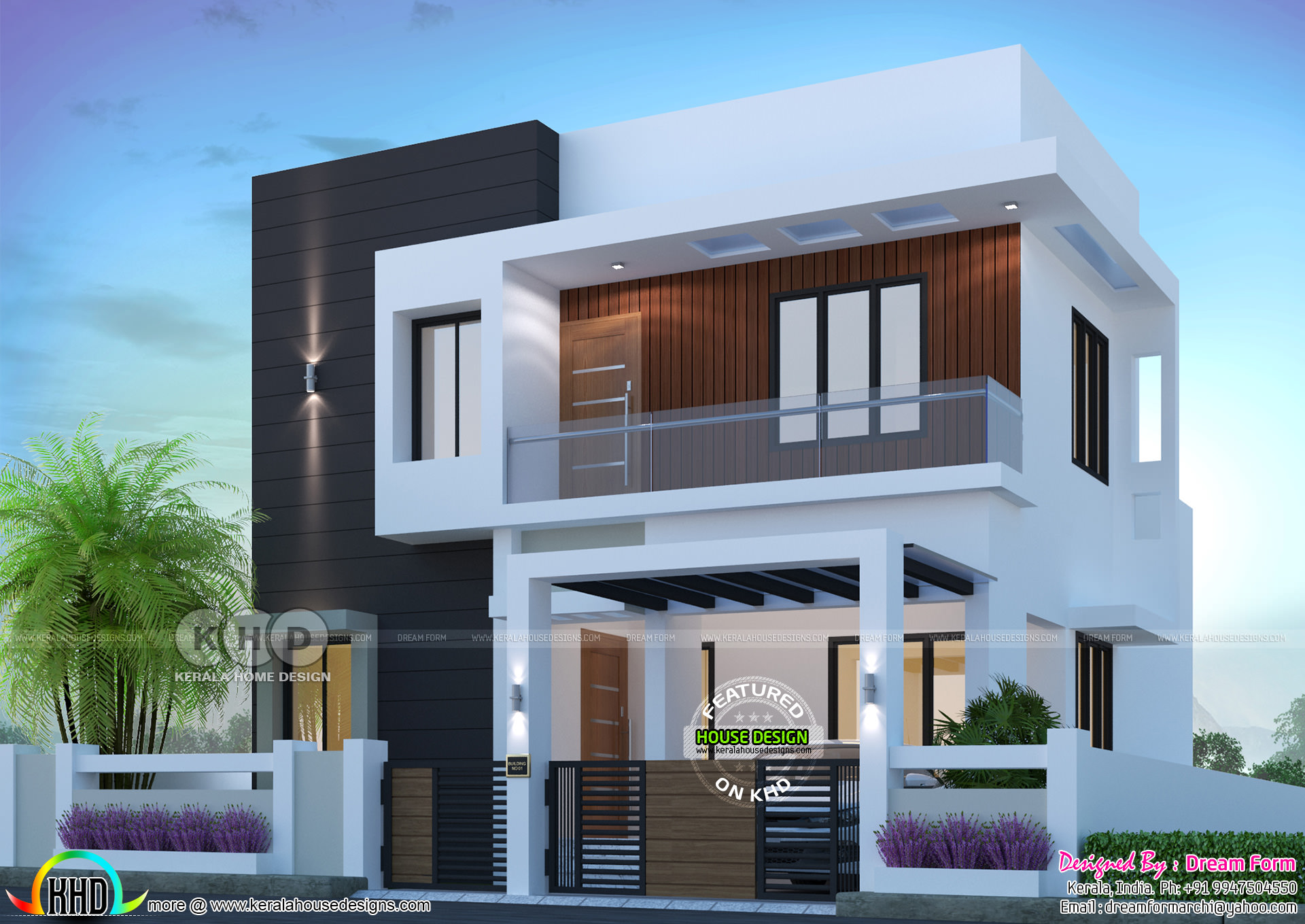 1500 sq-ft 3 bedroom modern home plan | Kerala home design ...