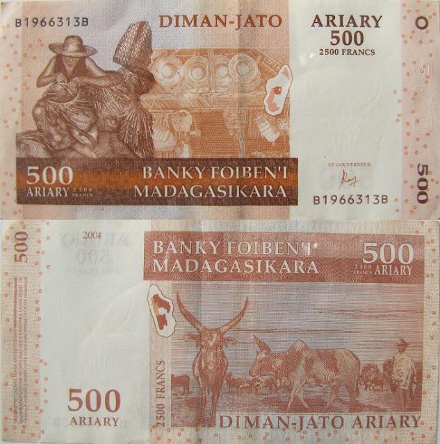 500 ariary madagascar money