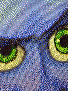 lego pointillism megamind