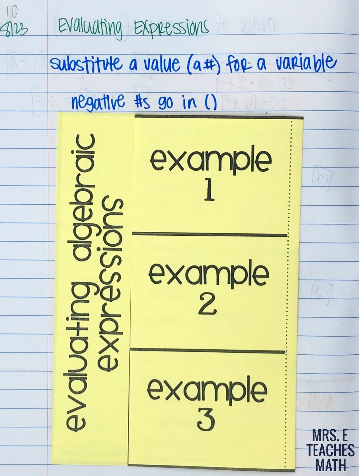 Order Of Operations And Algebraic Expressions Inb Pages