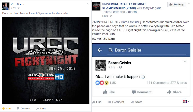 Baron Geisler And Kiko Matos Will Fight Inside The Cage Of URCC Cage To Settle Their Argument!