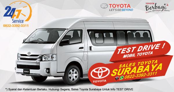 Info Test Drive Toyota Hiace Surabaya