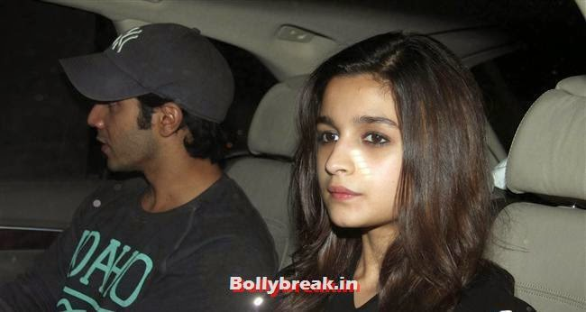 Varun Dhawan and Alia Bhatt, Bollywood celebs Clicked in their Cars at 2 States Special Screening
