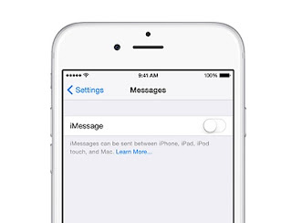 Turn off iMessage