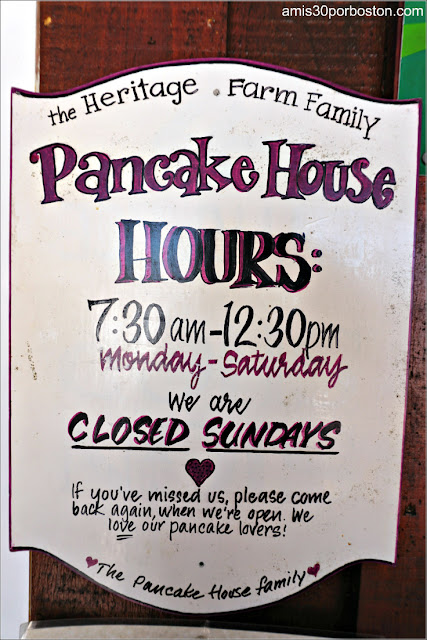 Horario del Restaurante Heritage Farm Pancake House en New Hampshire