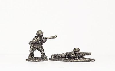 ME34   Imperial infantry in tropical helmet, firing/prone
