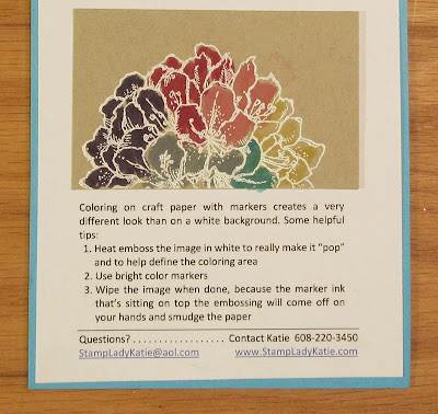 Technique of the Month Card - Coloring on Craft Paper