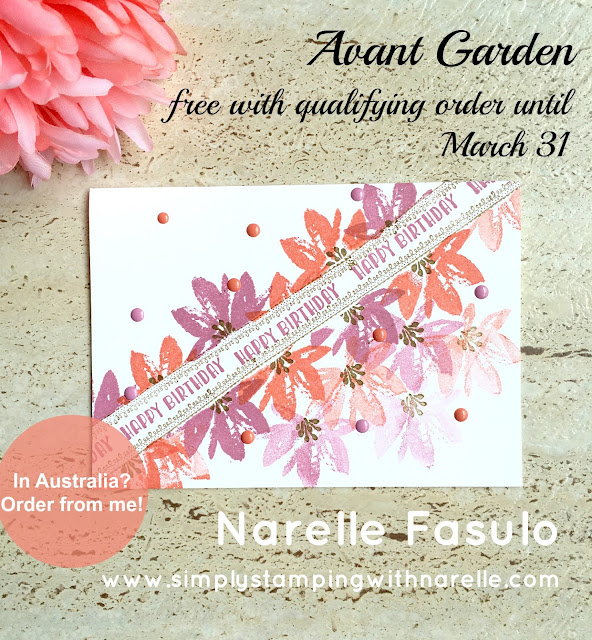 Avant Garden - FREE until March 31 - Simply Stamping with Narelle - shop here - https://www3.stampinup.com/ecweb/default.aspx?dbwsdemoid=4008228