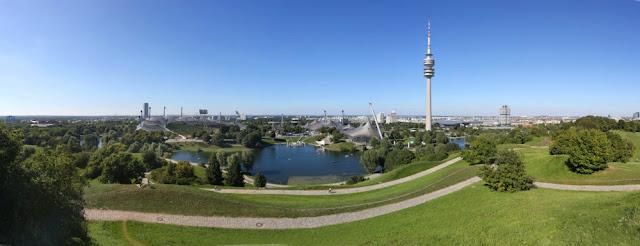 visão panorâmica do Olympiapark em Munique