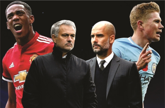 Jose Mourinho's Red Devils welcome Pep Guardiola's high-flying Man City to Old Trafford this Sunday.