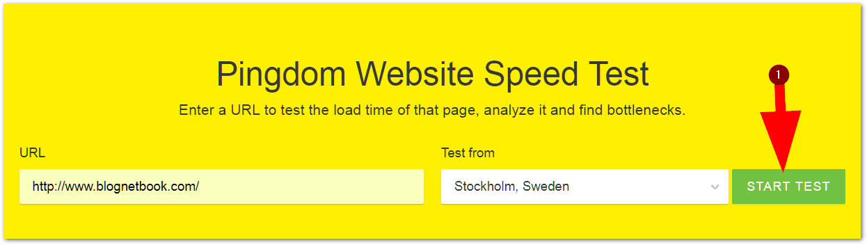 website speed test tool
