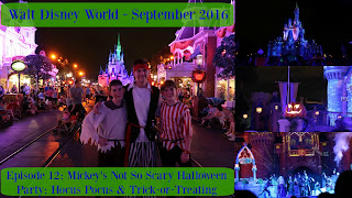 Episode 12: Mickey's Not So Scary Halloween Party: Hocus Pocus Show & Trick-or-Treating – Walt Disney World – September 2016