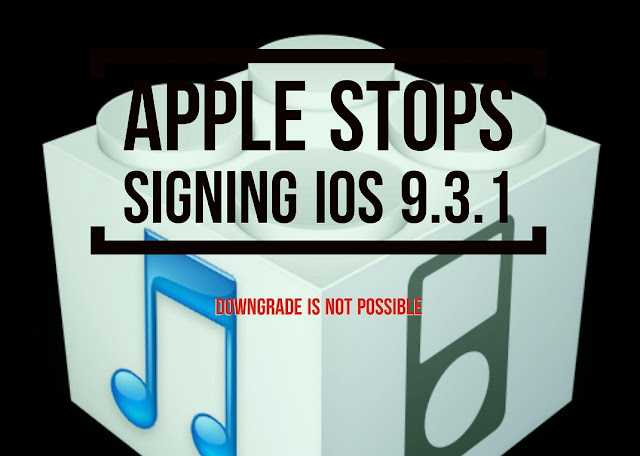Apple has stopped signing iOS 9.3.1 for all the iOS devices like iPhone, iPad and iPod Touch which means that users can no longer downgrade their iOS to that version using iTunes.