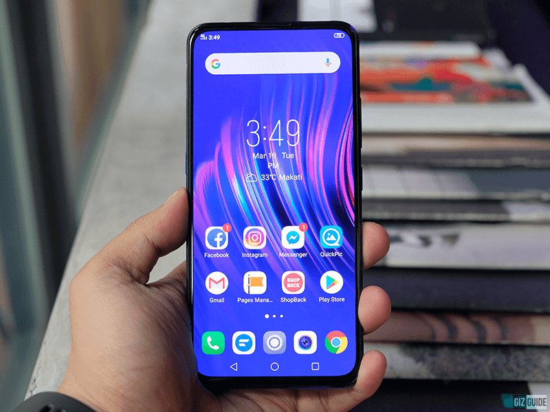 Full screen display of Vivo V15 Pro