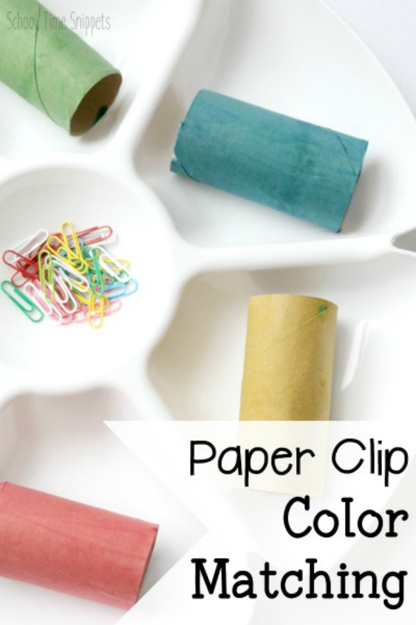 paper clip fine motor preschool activity