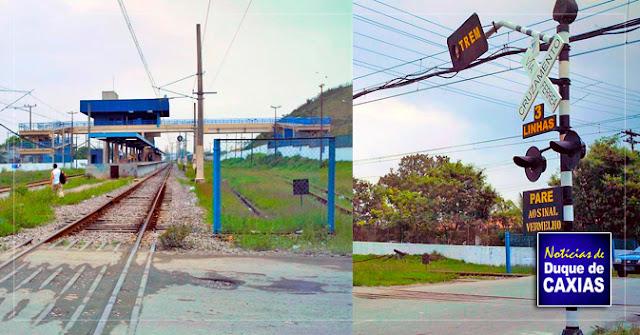 SuperVia e Defesa Civil de Caxias realizam simulado de acidente na passagem em nível de Campos Elíseos