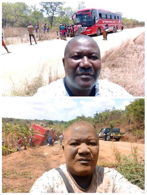 Homem tirou selfies antes de embarcar no ônibus e depois do acidente com o ônibus.