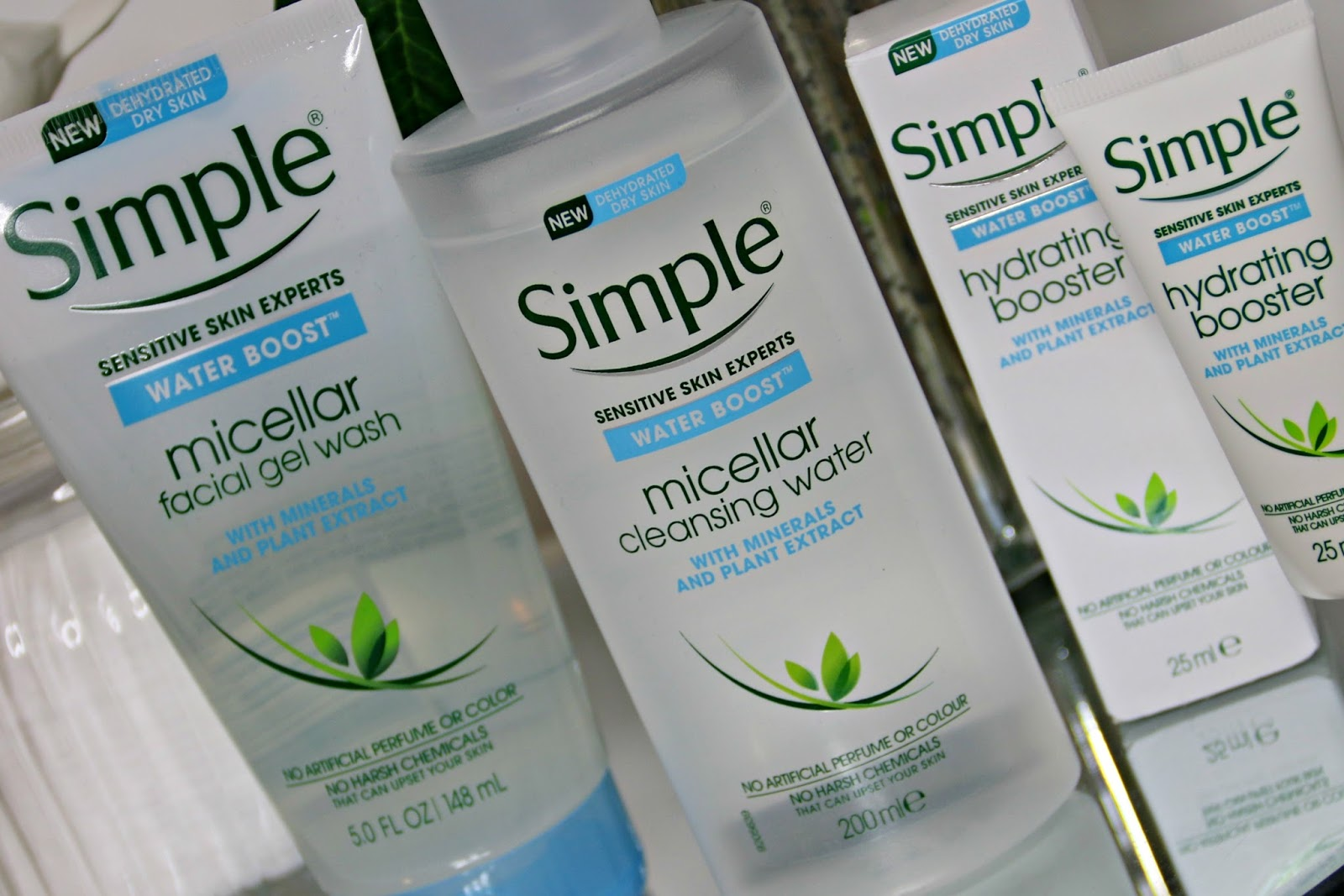 Simple Water Boost Range Review: Micellar Facial Gel Wash, Micellar Water and Hydrating Booster