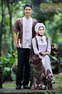 Baju batik sarimbit lebaran elegan