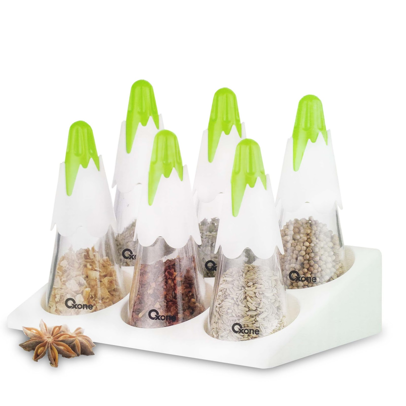 OX-341 Oxone Snowy Spice Set With Rack