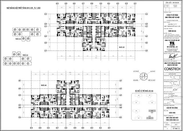 Mặt bằng tòa A3 A4 - An Bình City
