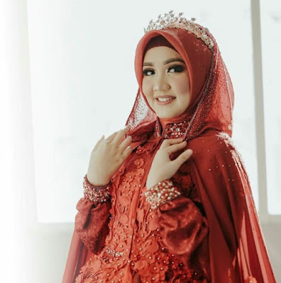 model hijab pengantin simple terbaru