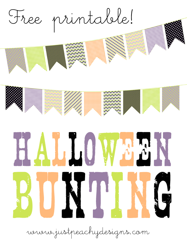 Free Halloween bunting