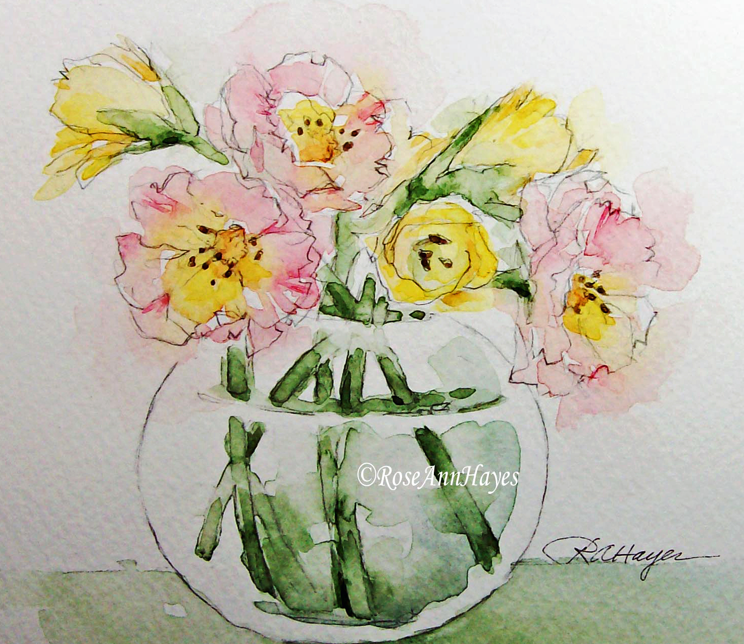 flowers in a vase watercolor painting images galleries with a bite. Black Bedroom Furniture Sets. Home Design Ideas