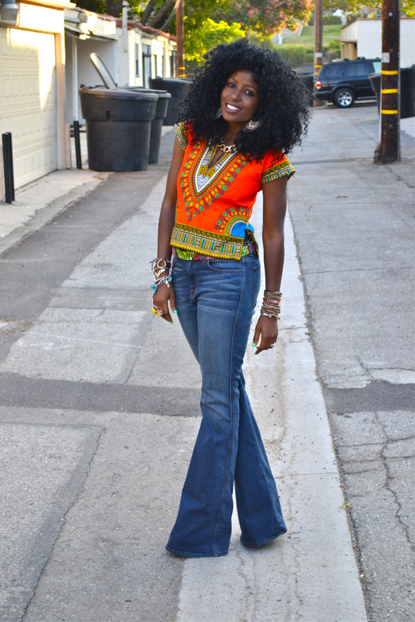 Dressing des 4 Saisons Blog Style Pantry Folake Dashiki orange Folake Giveaway Concours